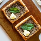 Lebanese Beef Puff Pastry With Pomegranate Drizzle (Feeds 2-3 or 4-6)
