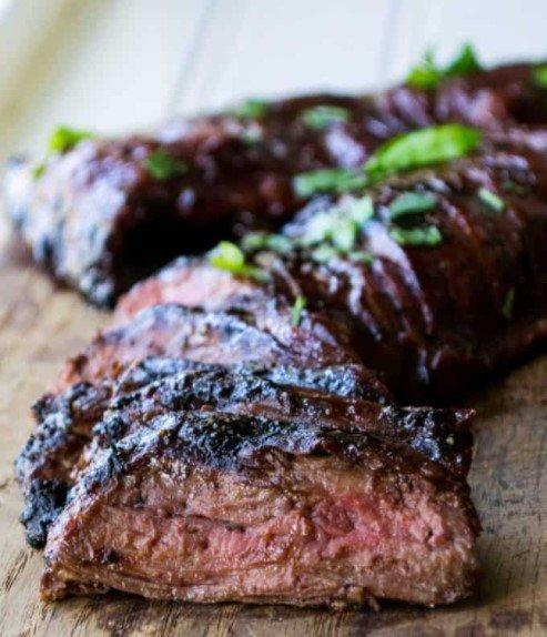 Suya Flank Steak Fajitas Entrée