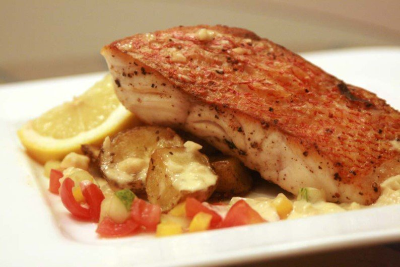 Pan Seared Red Snapper Entrée